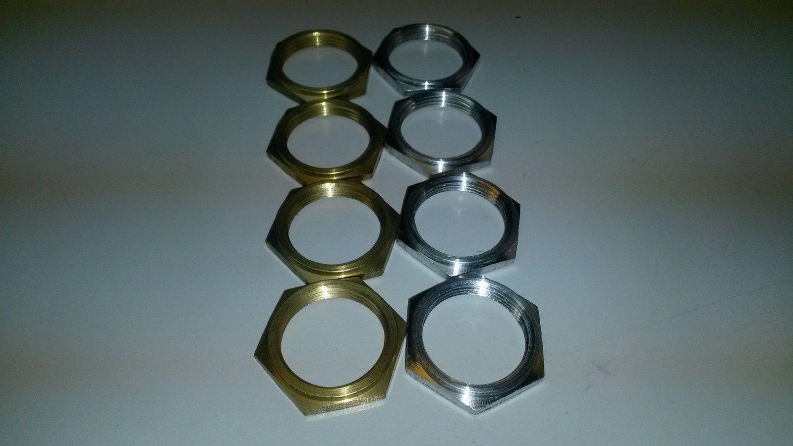 Muttern mit Flansch 22x1mmx4,5mm SW 27mm aus Messing - Aluminium